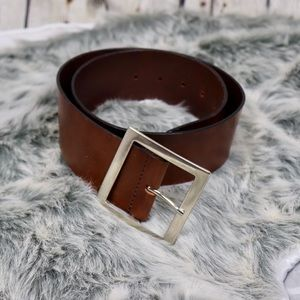 Italian Leather Belt: Square Buckle
